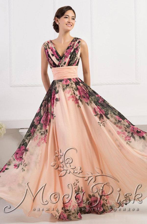 d8eb8fed896 Обшитое длинное пышное розовое платье Интернет-магазин Modapisk.ru