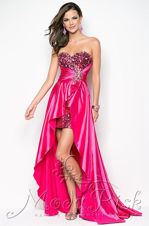 a1a28b558a5 Не дорого короткое платье со шлейфом